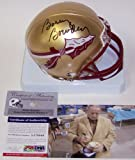 Bobby Bowden Autographed Hand Signed FSU Florida State Seminoles Mini Football Helmet - PSA/DNA