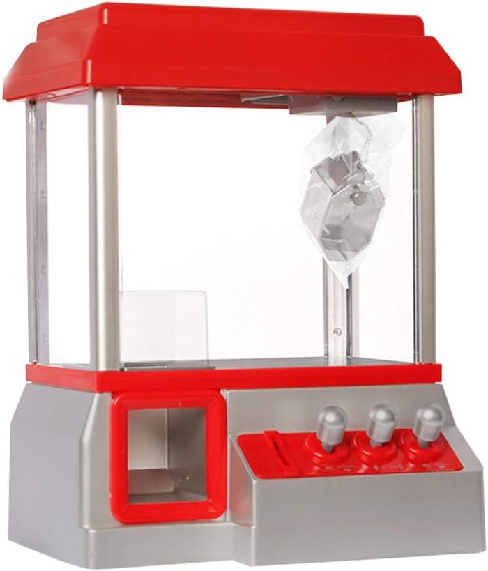 NUOBESTY Máquina de Garra Electrónica Arcade Mini Grabber Candy Dispensador de Muñecas Dispensador de Juguetes Expendedores de Juguetes para Niños Regalos de Cumpleaños (Sin Batería)