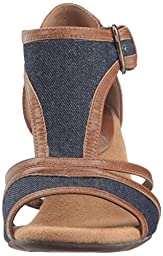 A2 by Aerosoles Women\'s Waterspowt Dress Sandal, Denim Combo, 8 M US