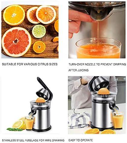 NNDQ Exprimidor eléctrico de Naranja de Acero Inoxidable de 300 vatios, exprimidor de cítricos eléctrico Manos Libres, fácil Uso, Motor Ultra silencioso y Boquilla antigoteo