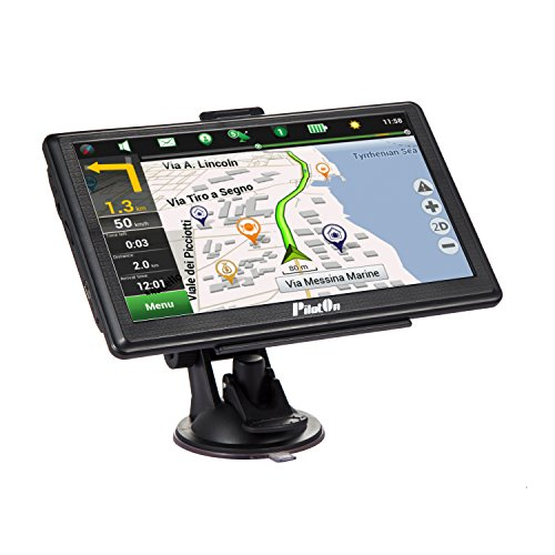 Car GPS Navigation, 7-Inch Vehicle GPS Navigator 8GB and 256DDR 800x480, Navigation system Included Overall America Maps with 2 Car Chargers.