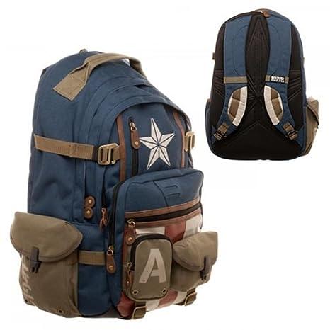 Marvel Captain America Built with Herringbone Backpack BioWorld JUN173259