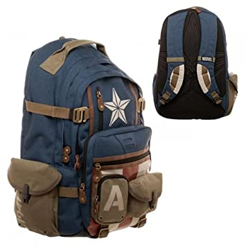 Image Unavailable. Image not available for. Color  Marvel Captain America  Built with Herringbone Backpack 9b56ec43625db