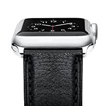 Apple Watch 42mm Band, Oittm [Vintage Series] Premium Genuine Leather Strap, Classic Replacement with Secure Buckle, Adapter for iWatch Series 3/2/1 42mm