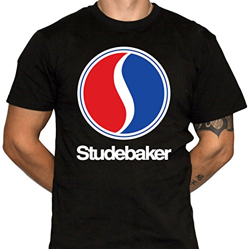 Studebaker Shirt Mens Black Cotton Tshirt (X-Large)