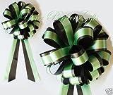 GREEN BLACK WEDDING 8'' BIG PULL BOW PEW BRIDAL SHOWER
