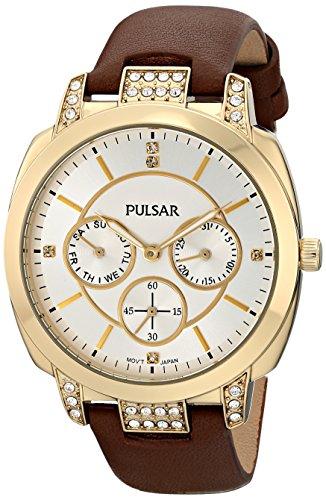 Pulsar Women's PP6138 Night Out Analog Display Japanese Quartz Brown Watch