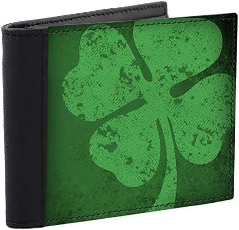 Irish Vintage Shamrock Men's Wallet Leather Accents
