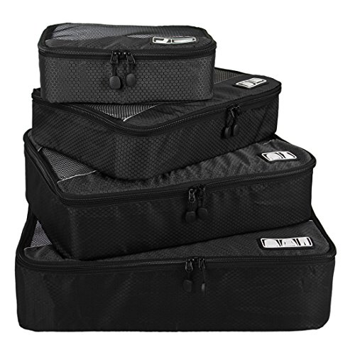 bagsmart travel 4 set packing cubes carry on luggage packing organizers for cheap. Black Bedroom Furniture Sets. Home Design Ideas