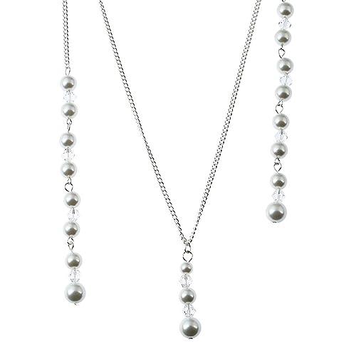 173231cc05ff Tinksky Collar Pendiente del Collar de la Perla de la Novia Collar Largo  sin Espalda del