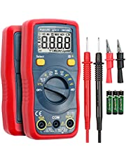 AstroAI Digital Multimeter 4000 Counts TRMS Auto-Ranging Multimètre DMM/Ohmmeter/Voltmeter, 1.5v/9v/12v Battery Voltage Tester with Non-Contact Voltage Function, Current, Resistance, Continuity, Capacitance, Diodes Tester, Gift for Man, Cadeau