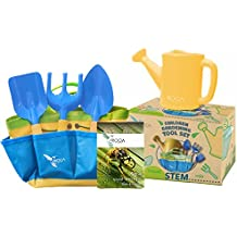 Gardening Tools for Kids with STEM Early Learning Guide by ROCA Toys. Garden Tool Toys, Outdoor Toys and Learning Toys. Cute Garden Bag. (Gardening Tools)