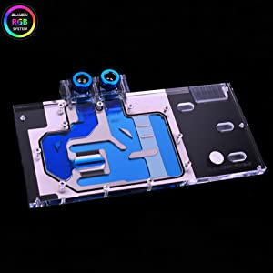 Bykski RGB PC Water Cooling Full-Cover GPU VGA Block for Graphic Video Card VGA EVGA GTX1080Ti FTW3 Gaming
