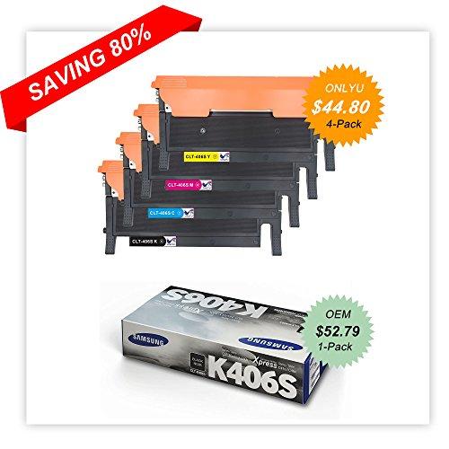 4-Pack CLT-K406S C406S M406S Y406S Toner Set For Samsung Xpress C410W C460FW US