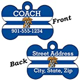 Kentucky Wildcats Double Sided Pet Id Dog Tag Personalized With 4 Lines of Text