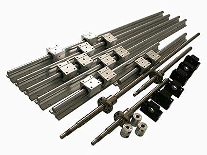 joomen cnc sbr20 support rail rm1605 ballscrew 300 1000 1500mm