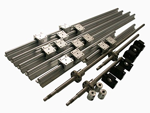 Joomen CNC SBR16 support rail RM1605 ballscrew 300/1300/1300mm Linear Motion Kit by Joomen