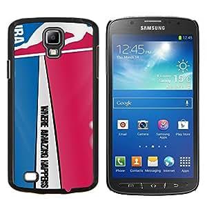 Qstar Arte & diseño plástico duro Fundas Cover Cubre Hard Case Cover para Samsung Galaxy S4 Active i9295 (Modelo del baloncesto)