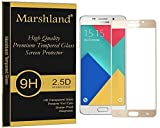 Marshland Samsung Galaxy A9 Pro Tempered Glass Screen Protector Golden Edge to Edge Perfect Fit 3D Full Cover 100% Original Crystal Clear 9H Hardness 0.33mm Thickness Anti Shock 99% Transparency Anti Explosion Bubble-Free Oleo phobic Coating Shatter Proof Tempered Glass For Samsung Galaxy A9 Pro