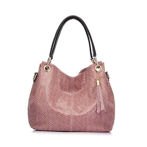 Crossbody Tote Pink High Quality Leather Faux Women's qwBxgpPaO