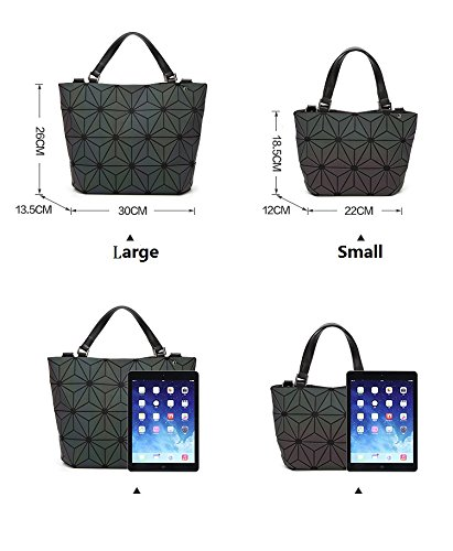 Irregular Shoulder Handbags Geometry Quilted Tote Large Bronze Black Bags Folding Large ESnqfnx4w