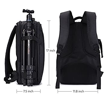 Amazon.com: iVotre 2017 Professional DSLR SLR Camera Backpack For Nikon Canon Laptop Rucksack with Tripod Holder for Men&Women to hold Camera, Computer, ...