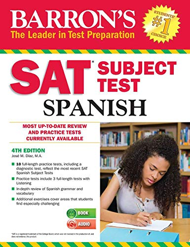 Pdf Teen Barron's SAT Subject Test Spanish: with MP3 CD