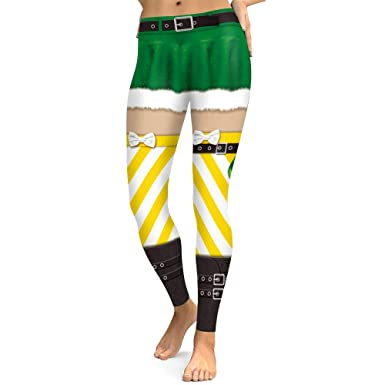 Pantalón Chandal Mujer Navidad Leggings Impresos Medias ...