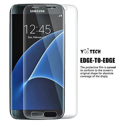 Galaxy S7 Edge Screen Protector [Full Coverage] ,Yootech [2-Pack] [Anti-Bubble] [HD Clear] Curved Edge to Edge Screen Protector for Samsung Galaxy S7 Edge,