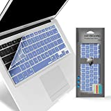 iBenzer Macaron Series Keyboard Cover for Macbook Pro 13' 15' 17' (with or w/out Retina Display) Macbook Air 13' and iMac Wireless Keyboard, Serenity Blue MKC01SRL
