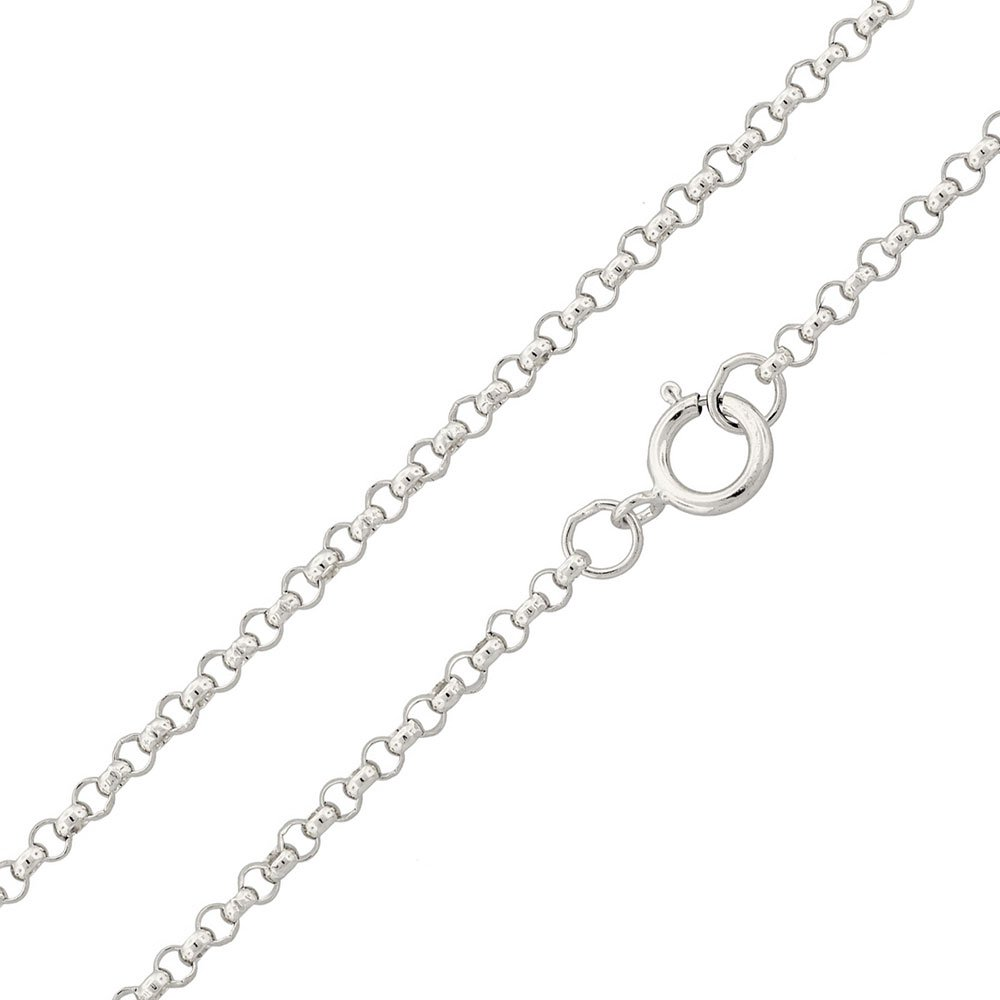 CloseoutWarehouse High Polished Sterling Silver Round Rolo 035 Chain 2.3mm