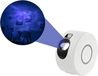 Dluna Night Light Projector, LED Nebula Cloud 7 in 1 - Star Projector, Laser Projector, for Game Rooms, Home Theatre, Bedroom or Night Light Ambiance, Children (Star Projector)