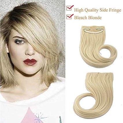 Extension Frangia Capelli Clip Frangetta Laterale Hair Bang Fascia Unica  30g Biondo Chiarissimo  Amazon.it  Bellezza efd462b14152