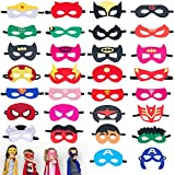 Omew Superhero Masks, Superhero Party Masks Children Masquerade Cosplay Eye Masks for Ages 3-Plus, Perfect for Fancy Dress Up Costume, Birthday Party(30 Pcs)