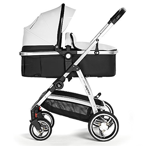 Springbuds Newber High End Lightweight Baby Stroller Folding Newborn Stroller Anti-Shock Toddler Travel Syetem