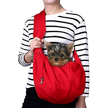 Amazon.com : TOMKAS Small Dog Cat Carrier Sling Hands-Free