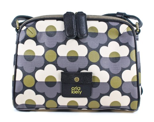 Orla Kiely Iris Bag 13ABSNF011 Cross Body Bag,Slate,One Size, Bags Central