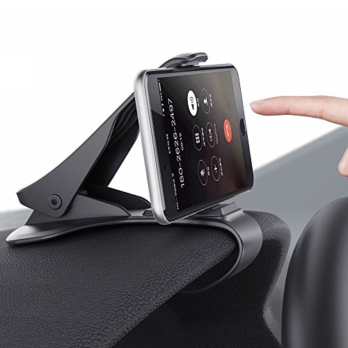 Car Phone Holder Dashboard Cellphone Mount Mobile Clip Stand HUD Design for iPhone X/8/8 Plus/7/7 Plus/6/6S/6Plus/5s, Samsung Galaxy S8/S7/S6/S5 & Other Smart Phone(3.0-6.5inch)