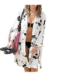 muqing Mujer Elegante playa blusas Kimono Cárdigan