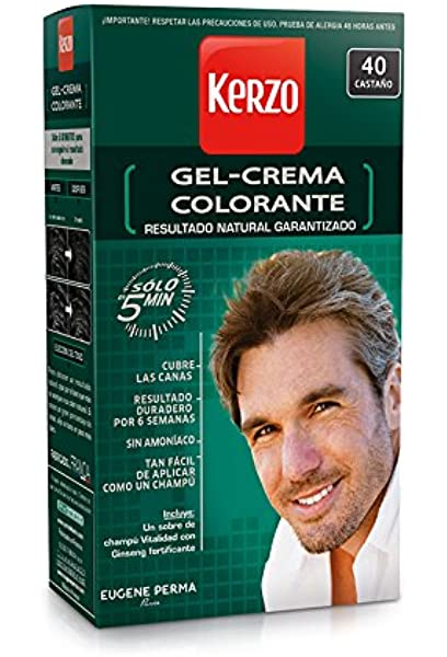 KERZO tinte para hombre Castaño Nº 40 caja 1 ud: Amazon.es ...