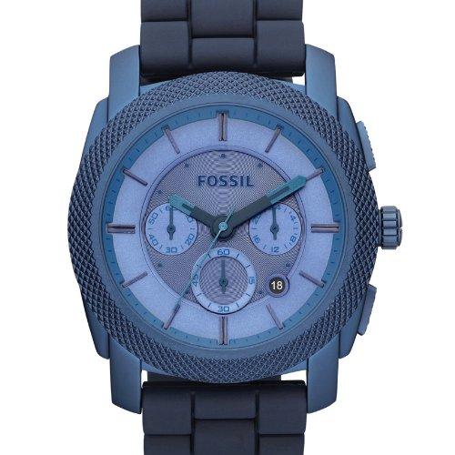 Fossil FS4703 - Reloj analógico de cuarzo para hombre con correa de silicona, color azul: Amazon.es: Relojes