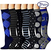 7 Pairs Compression Socks for Women and Men - Best...