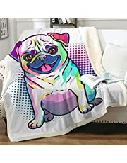 """Famitile Kids Sherpa Fleece Throw Blanket, Cute Cartoon Plush Blanket Super Soft Bed Sofa Chair Throw for Kids and Adults (47"""" x 60"""")"""