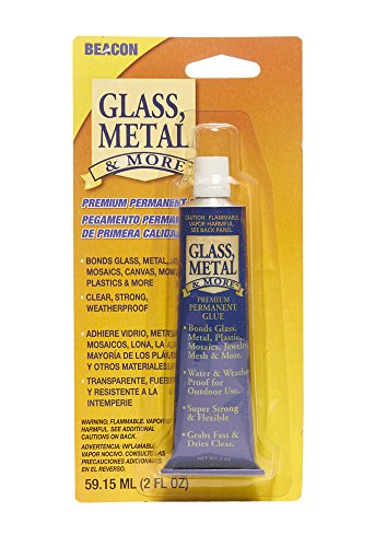 Beacon Glass, Metal & More Premium Permanent Glue, 2-Ounce - Art Tray Glass Stained