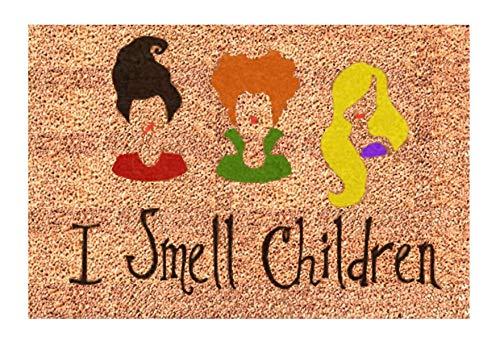 I Smell Children Door Mat | Hocus Pocus | Sanderson Sisters | Funny Doormat -