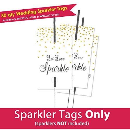 Amazon Com 50 Let Love Sparkle Tags Wedding Sparkler Tags