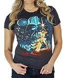 Mighty Fine Womens Star Wars Classic Vintage Black T-Shirt Black
