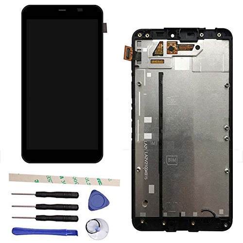 LCD Display Touch Screen Digitizer Assembly Replacemnt With Frame For Microsoft Lumia 640 XL 640XL RM-1066 1065 1063 (black)