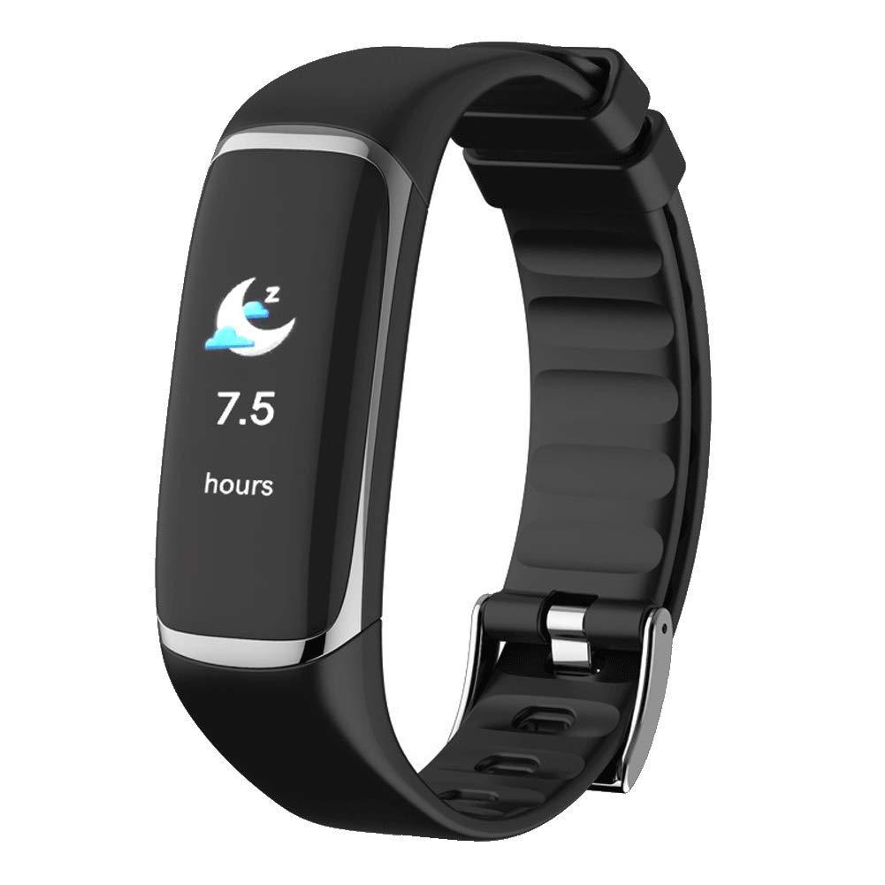 ZLLZ Smart Bracelet, Heart Alarm Heart Rate Blood Oxygen HRV Sleep Monitoring Step Waterproof, Fitness Tracker Smart Watch, Suitable for Men and Women-Grey by ZLLZ