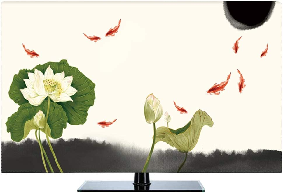 Ting Ting Cubiertas Protectoras Nuevo Chino A Prueba De Polvo Protege Los Televisores TV LCD Display Tingting-Funda para Monitor (Color : Lotus, Size : 55inch): Amazon.es: Hogar